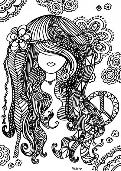 hippie girl coloring pages hippy girl digital stamp coloring page digi stamp printable coloring girl hippie pages