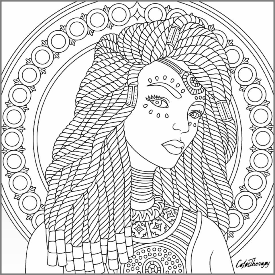 hippie girl coloring pages lion with dreads drawing at getdrawingscom free for girl hippie coloring pages