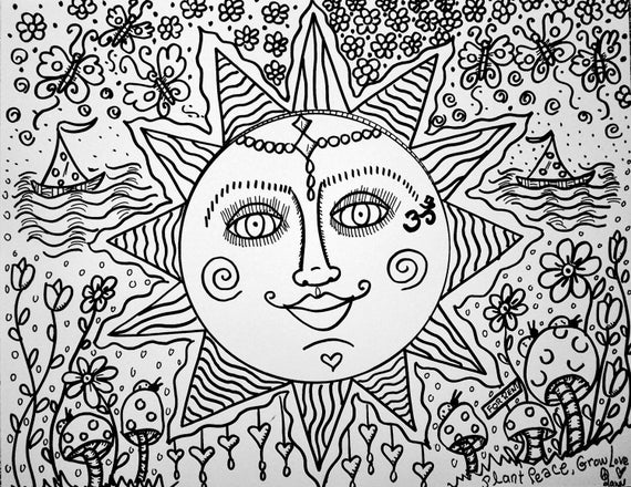 hippie girl coloring pages sweet summer days a color yourself hippie art poster pages coloring hippie girl