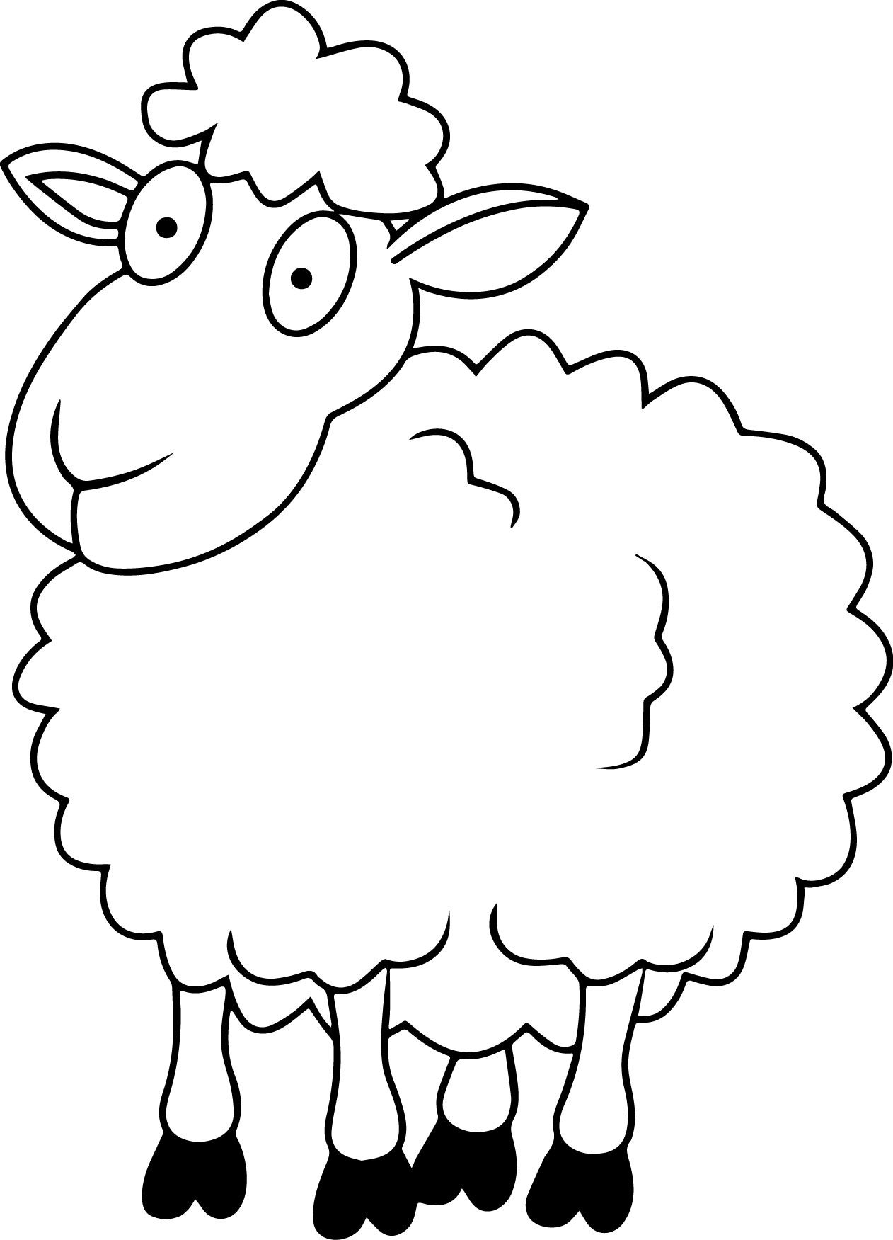 lamb coloring page sheep outline coloring page coloring home lamb coloring page