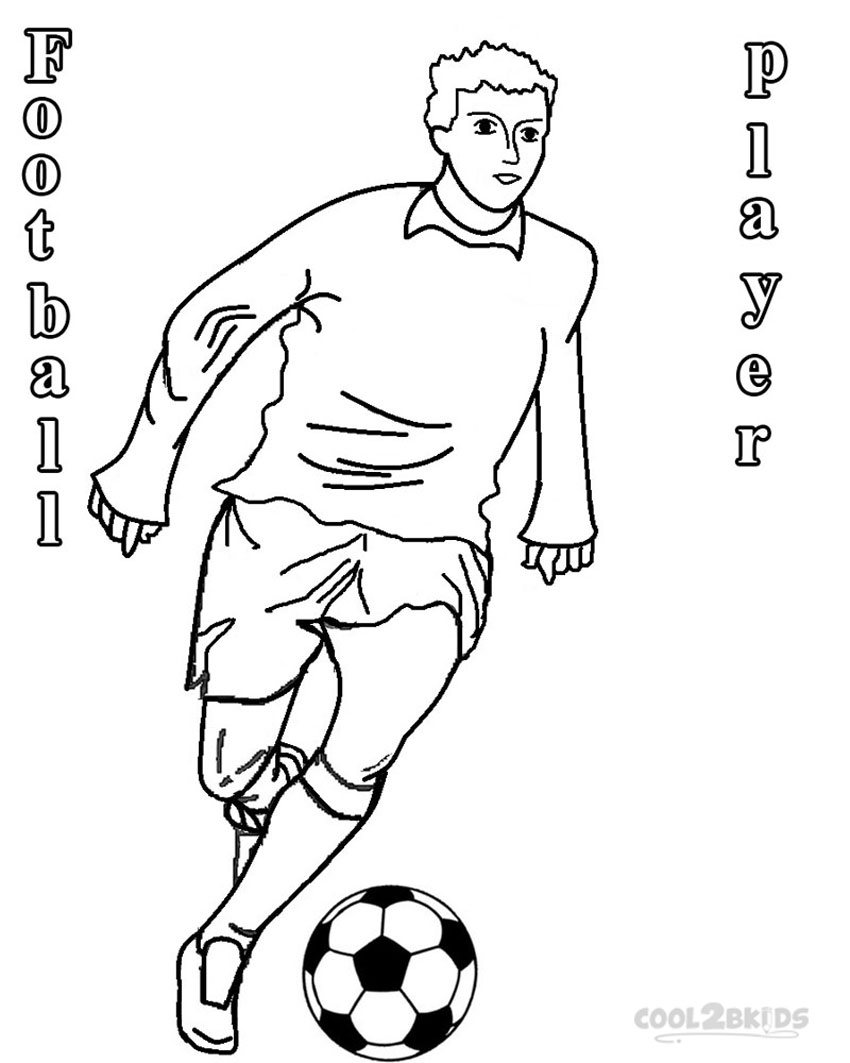 soccer player colouring pages football player coloring pages to download and print for free colouring player pages soccer