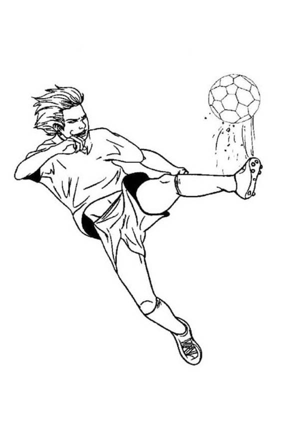 soccer player colouring pages kaka playing soccer coloring pages hellokidscom soccer pages colouring player