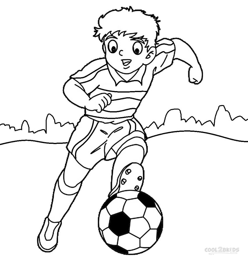 soccer player colouring pages printable football player coloring pages for kids cool2bkids player colouring soccer pages