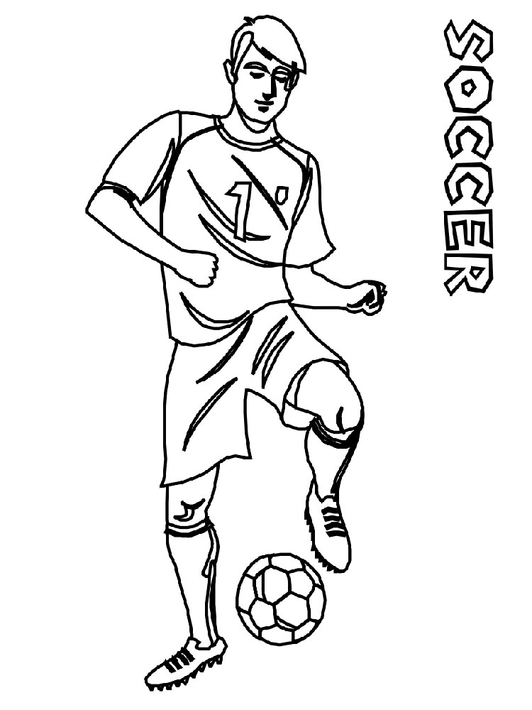 soccer player colouring pages soccer player with ball coloring page player pages colouring soccer