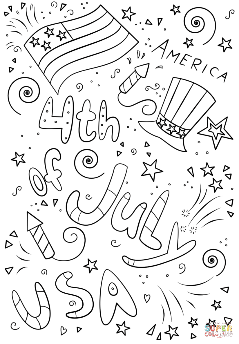4 of july coloring sheets