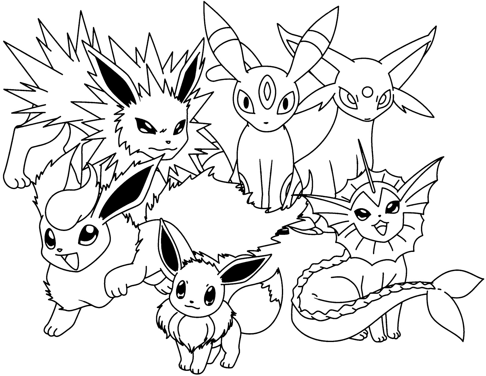 eevee coloring sheets eevee coloring pages to download and print for free eevee sheets coloring