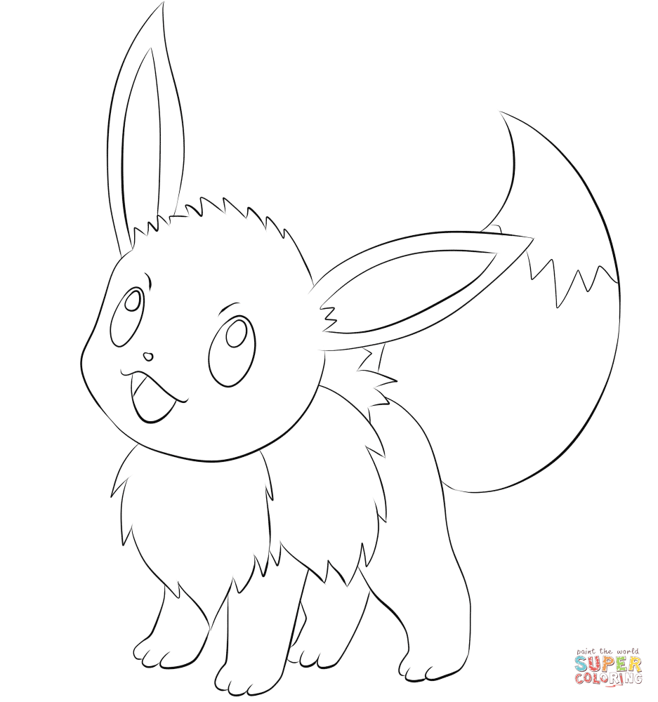 eevee coloring sheets eevee coloring pages to download and print for free sheets eevee coloring