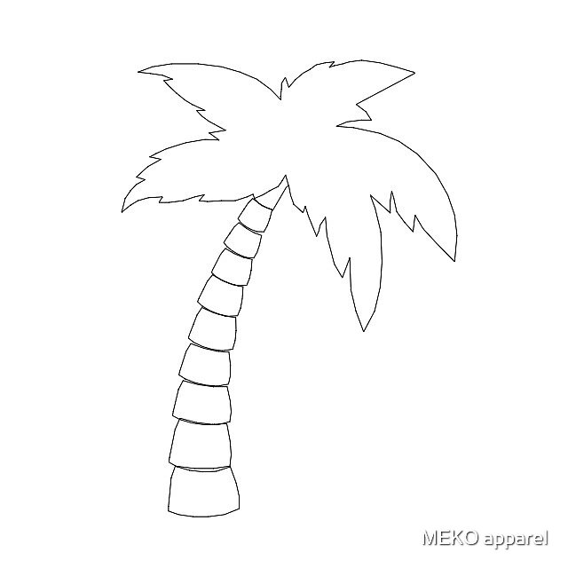 palm tree outline palm tree black outline silhouette vector illustration palm tree outline