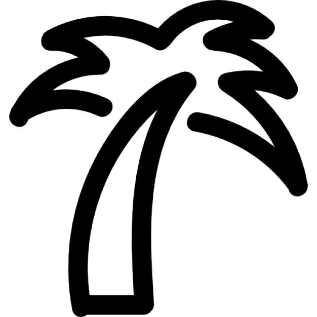 palm tree outline palm tree black outline silhouette vector illustration tree palm outline