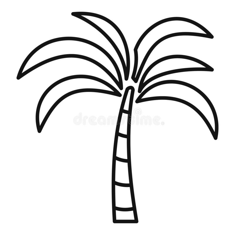 palm tree outline palm tree drawing png at getdrawings coconut tree outline tree palm