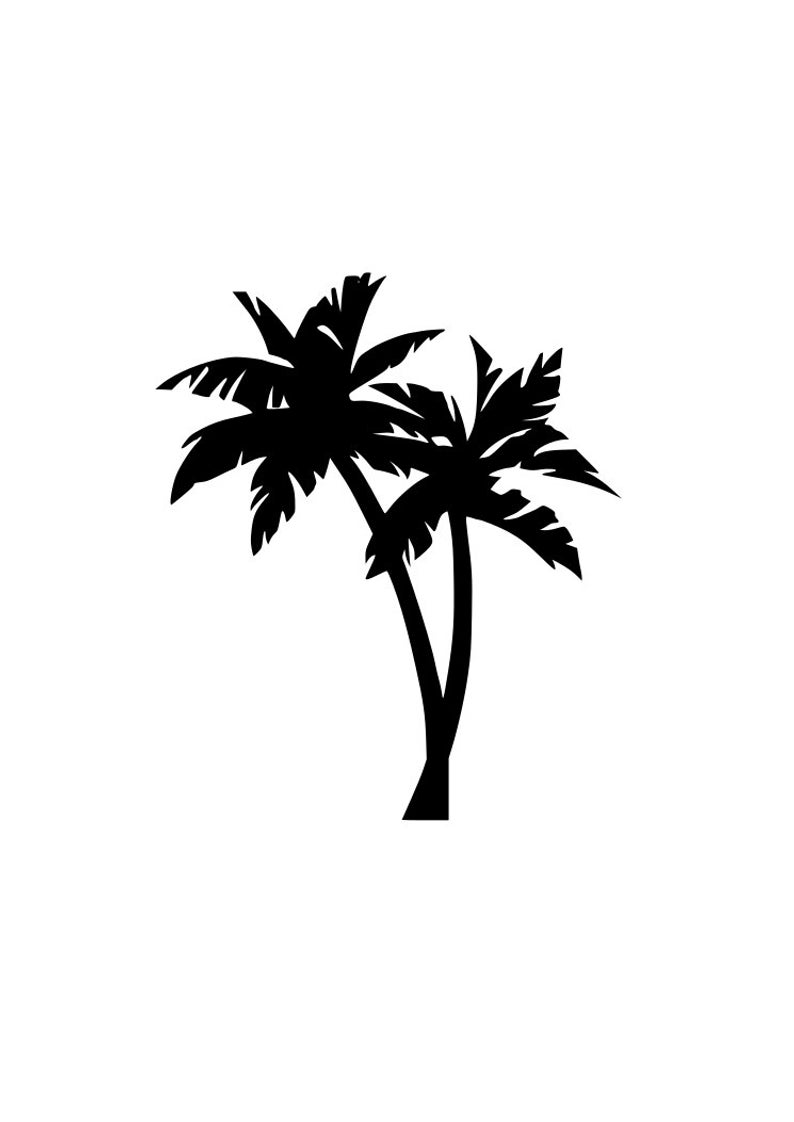 palm tree outline palm tree drawings outline palm tree
