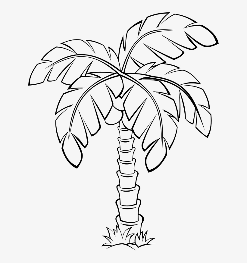 palm tree outline palm tree outline icon sticker tree palm outline