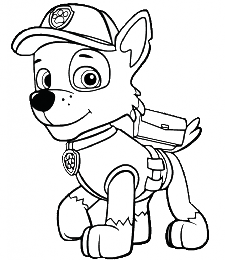 paw patrol coloring rubble coloring book paw patrol print free a4 50 pictures paw patrol coloring rubble