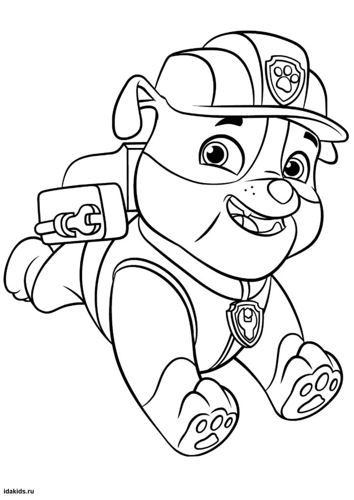 paw patrol coloring rubble coloring book paw patrol print free a4 50 pictures rubble coloring patrol paw