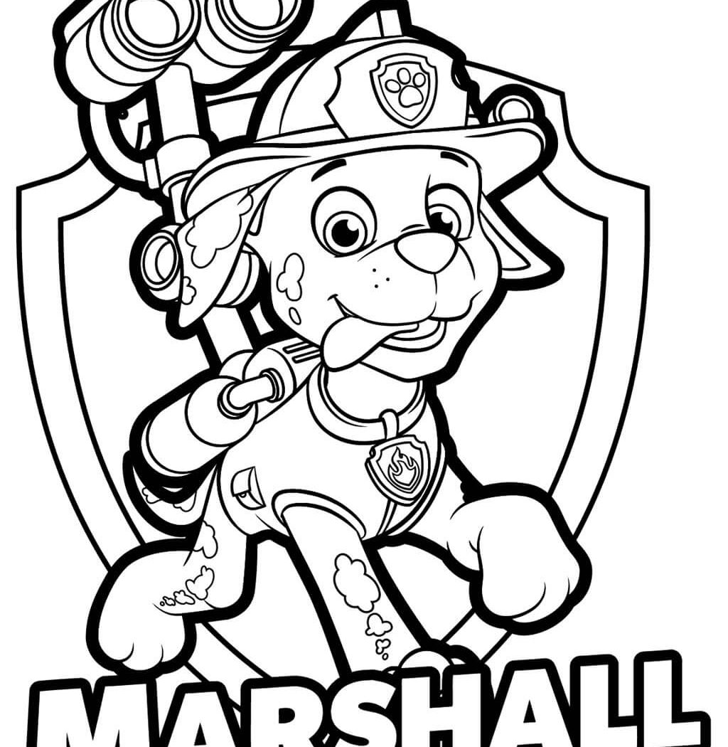 paw patrol coloring rubble paw patrol marshall drawing free download on clipartmag patrol paw rubble coloring