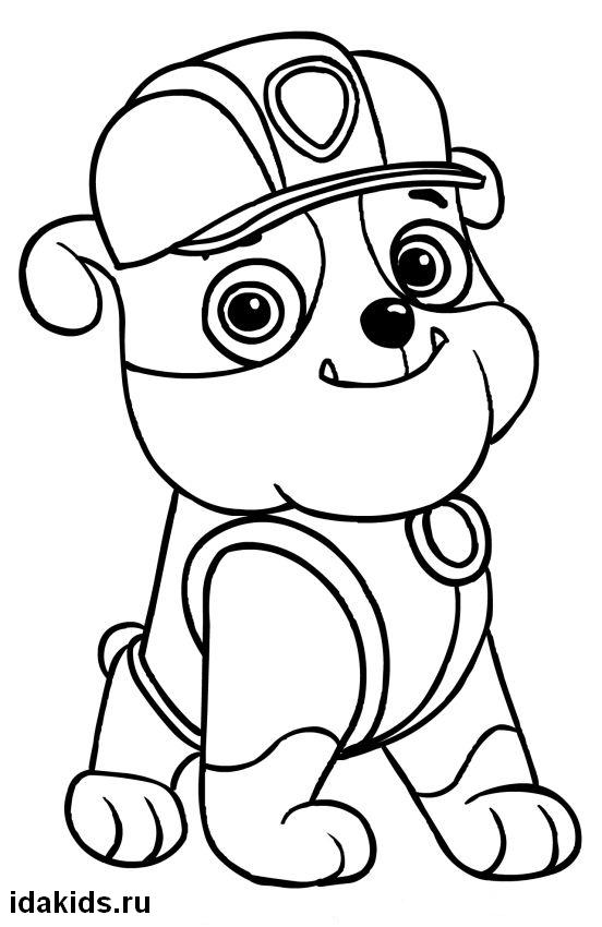 paw patrol coloring rubble rubble paw patrol coloring pages download and print paw coloring patrol rubble