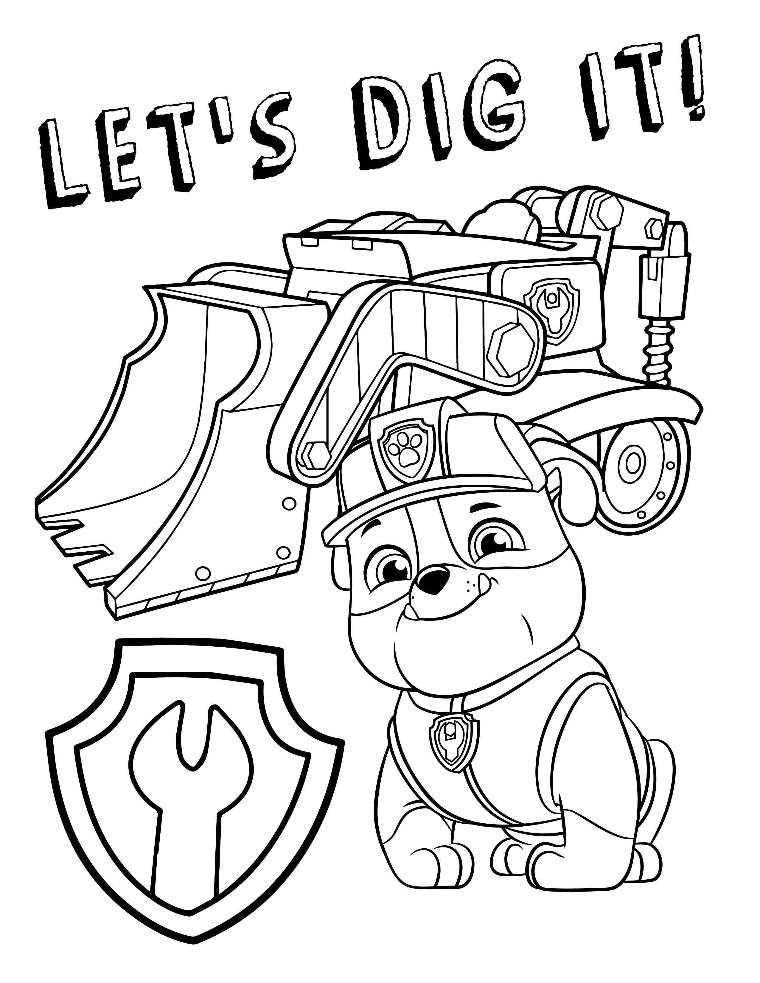 paw patrol coloring rubble superb coloring rubble coloring pages falcoaircraftorg rubble paw patrol coloring