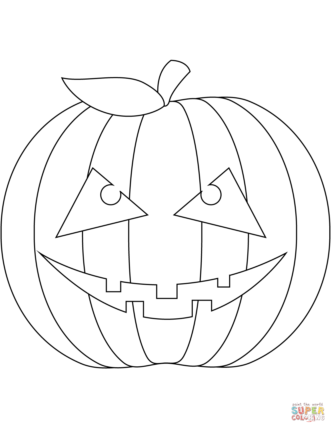 pumpkin faces coloring pages scary pumpkin face coloring page free printable coloring faces pumpkin pages coloring