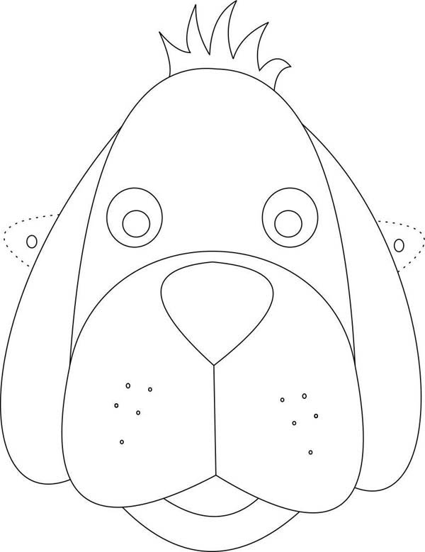 puppy mask coloring page cute dog mask coloring page coloring sky page mask puppy coloring