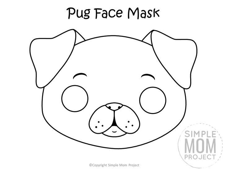 puppy mask coloring page dog face mask templates simple mom project in 2020 puppy mask page coloring