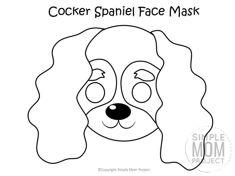 puppy mask coloring page dog face mask templates simple mom project puppy coloring mask page