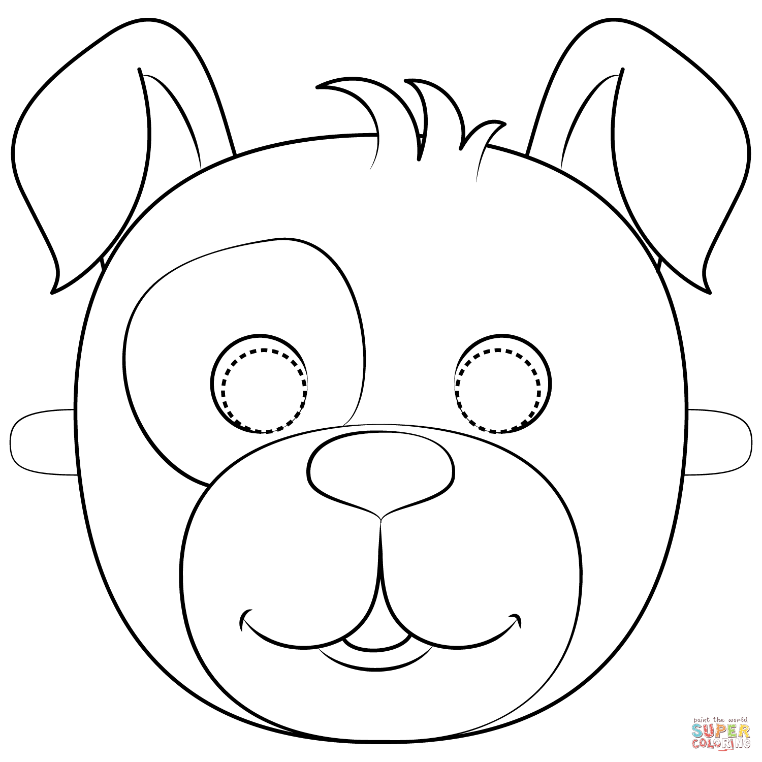 puppy mask coloring page dog or puppy masks free printable templates coloring coloring puppy page mask