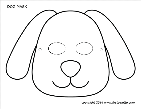 puppy mask coloring page dog or puppy masks free printable templates coloring coloring puppy page mask 1 1