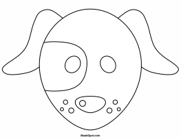 puppy mask coloring page printable dog mask coloring mask page puppy