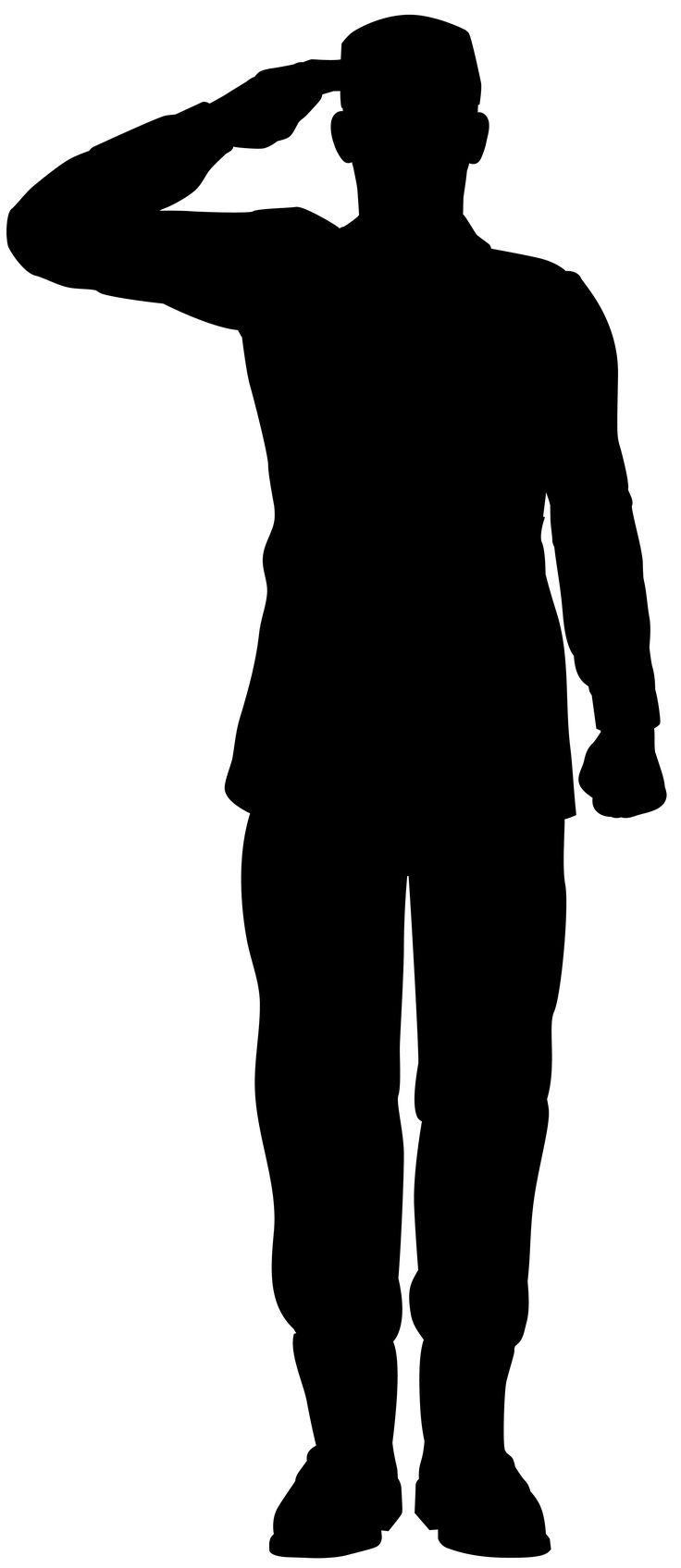 Soldier salute silhouette