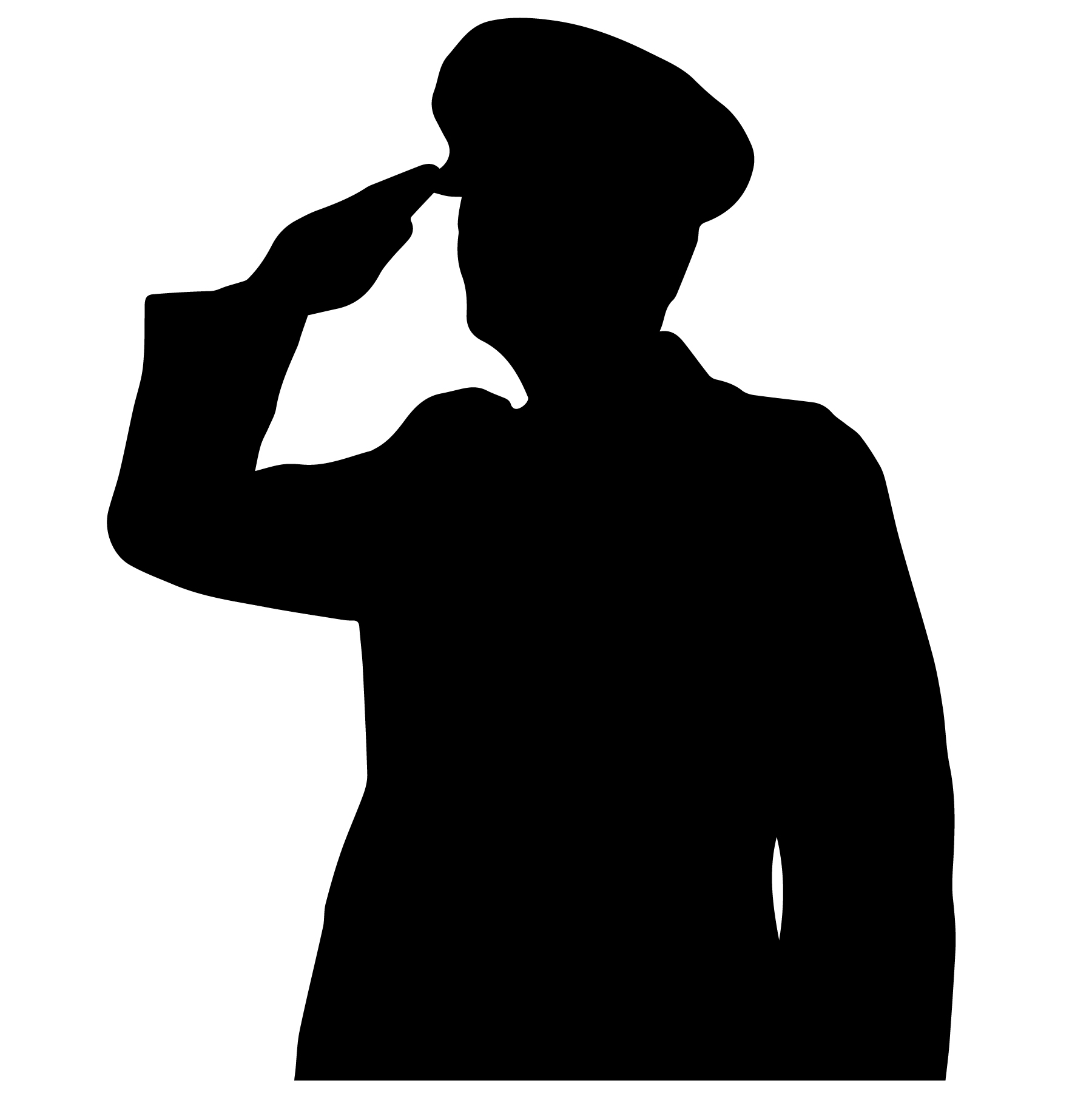 soldier salute silhouette military salute vector download free vectors clipart salute silhouette soldier