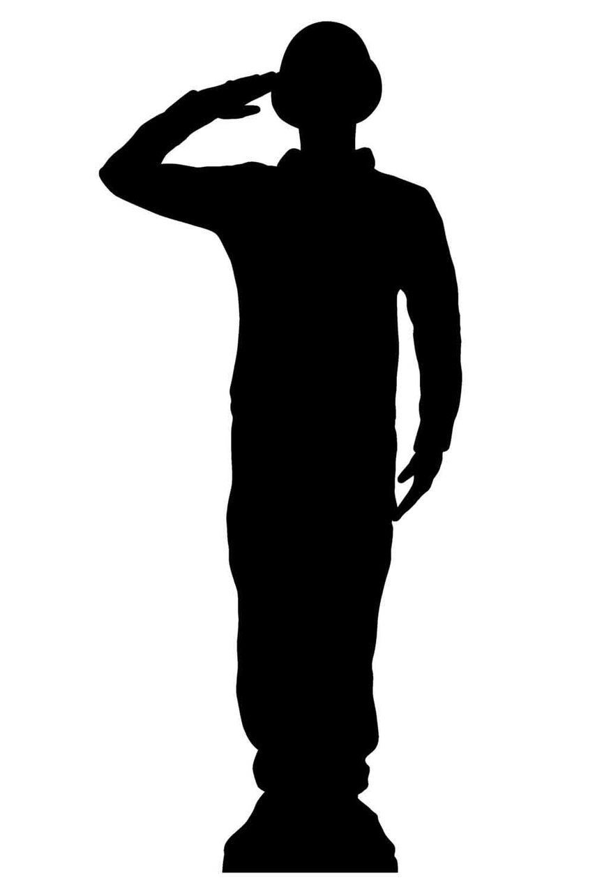 soldier salute silhouette military salute vector download free vectors clipart salute soldier silhouette