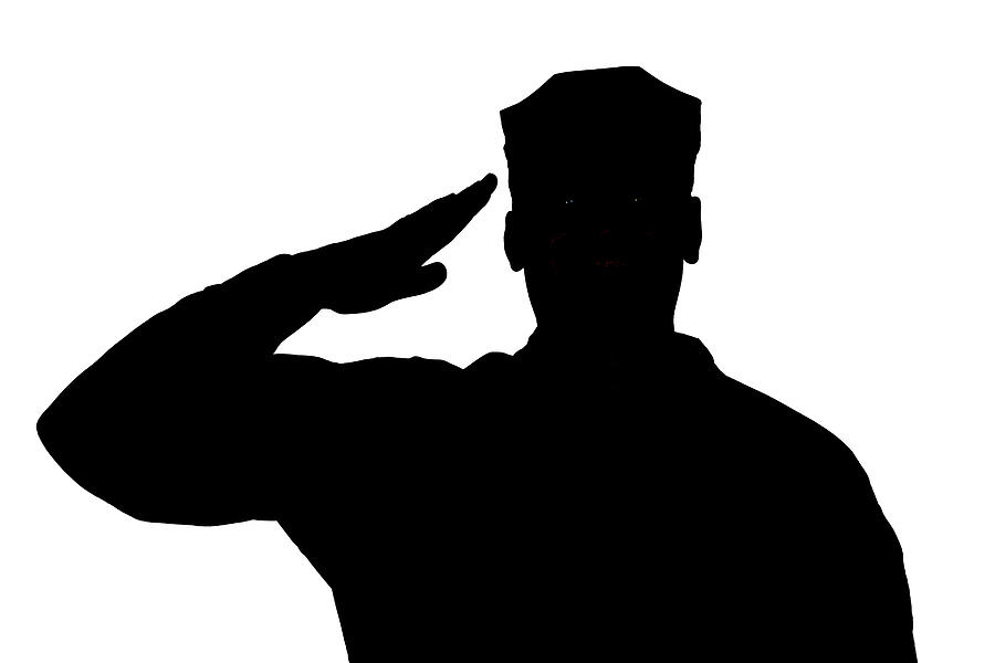 soldier salute silhouette soldier in uniform saluting silhouette laser cut appliques soldier salute silhouette