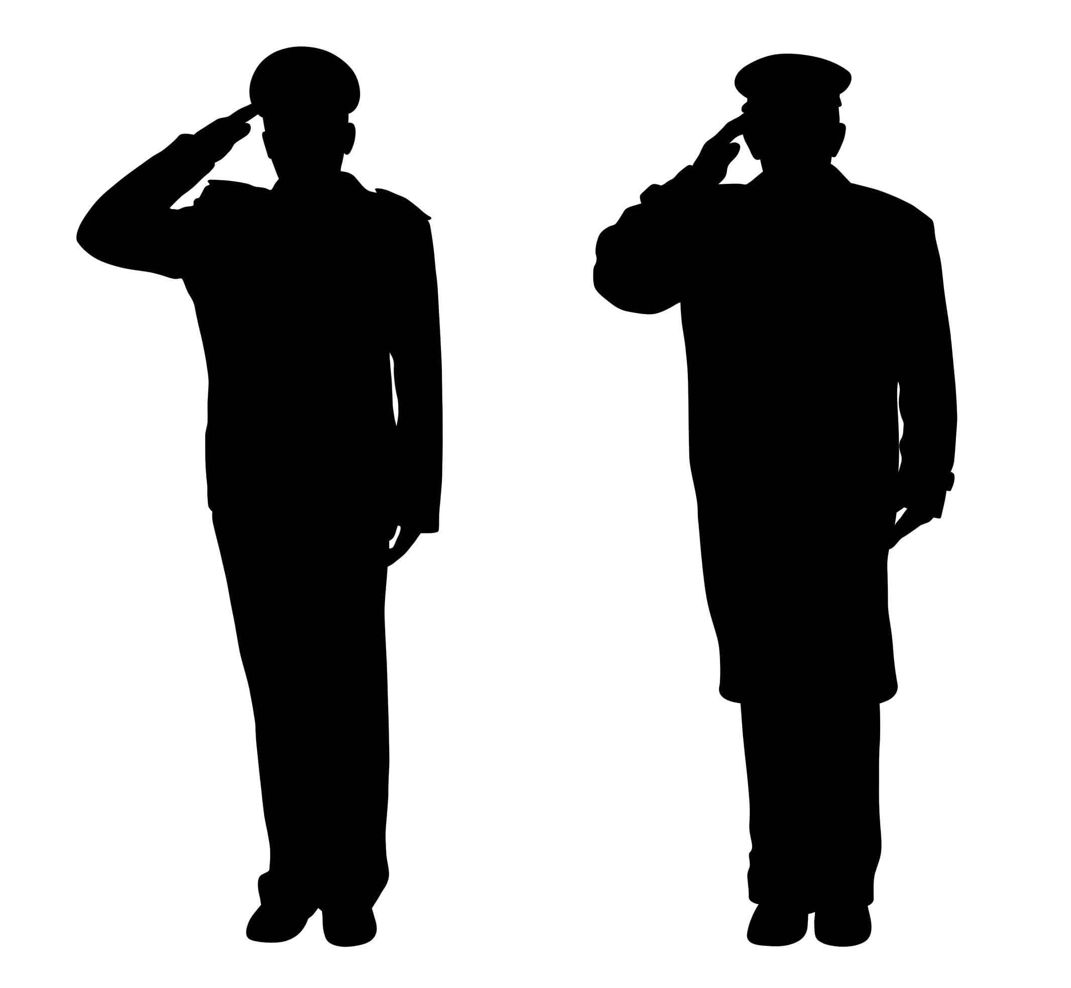 soldier salute silhouette soldier saluting silhouette soldier silhouette salute