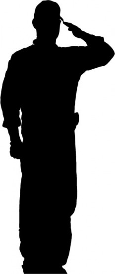 soldier salute silhouette soldier silhouette saluting at getdrawings free download salute soldier silhouette