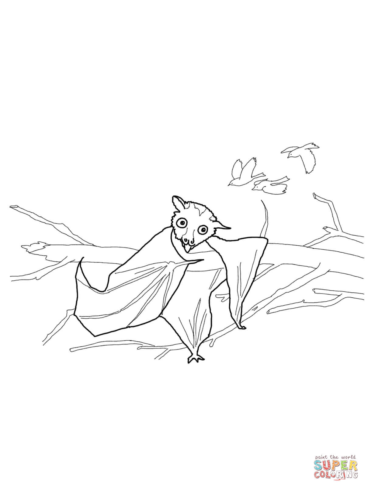 Stellaluna coloring pages