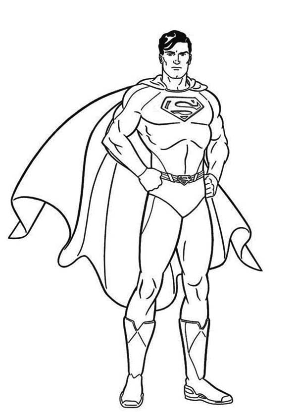 superman cartoon coloring pages cartoon superman drawing at getdrawings free download pages coloring cartoon superman