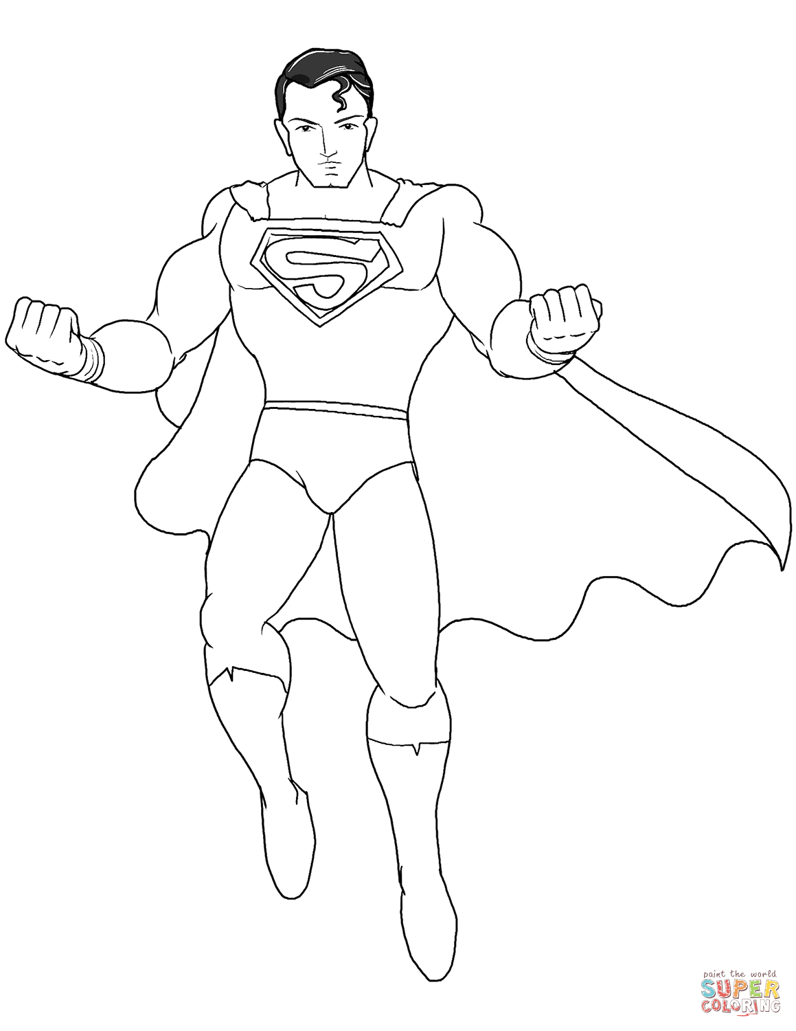 superman cartoon coloring pages superman coloring page free printable coloring pages superman cartoon pages coloring