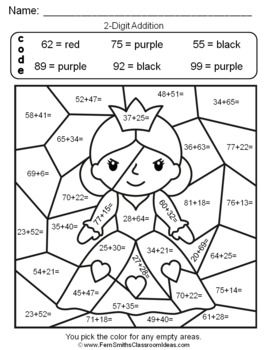 2nd grade math coloring sheets 2nd grade math color by number common core aligned tpt math sheets grade coloring 2nd