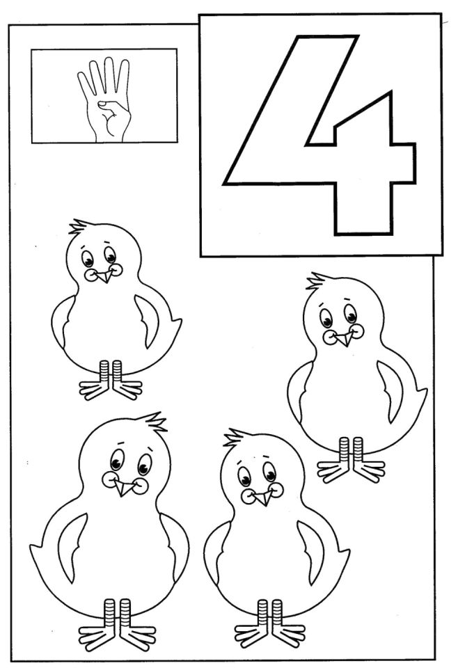 4 coloring sheet fileclassic alphabet numbers 4 at coloring pages for kids 4 coloring sheet