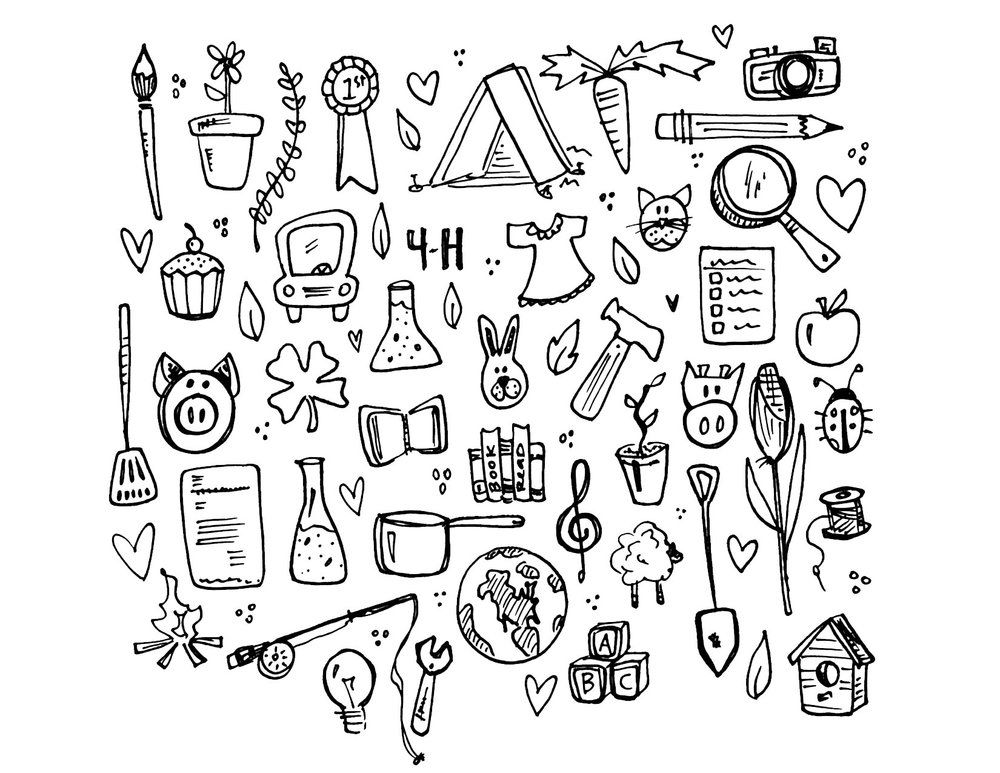 4 h coloring sheets 41 4 h coloring pages images fun 4 h clover radiokothacom coloring 4 h sheets