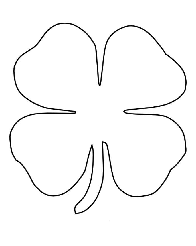 4 h coloring sheets four leaf clover images clipartsco 4 h coloring sheets