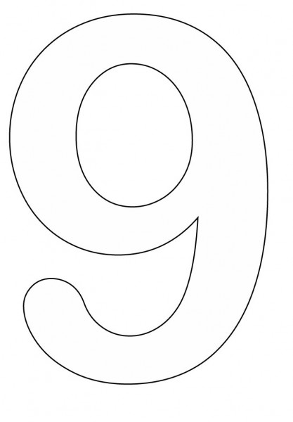 9 coloring sheet number 9 coloring page at getcoloringscom free sheet coloring 9