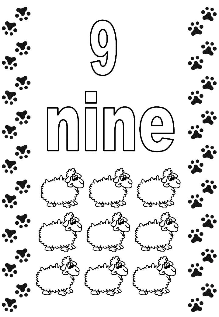 9 coloring sheet number 9 coloring pages free download on clipartmag coloring 9 sheet