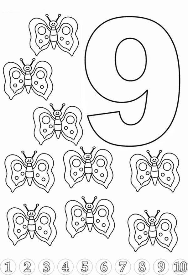 9 coloring sheet number coloring pages free download on clipartmag coloring sheet 9
