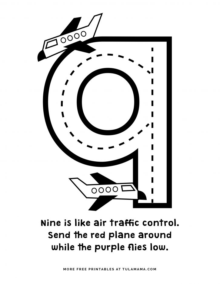 9 coloring sheet numbers coloring page coloring sheet 9
