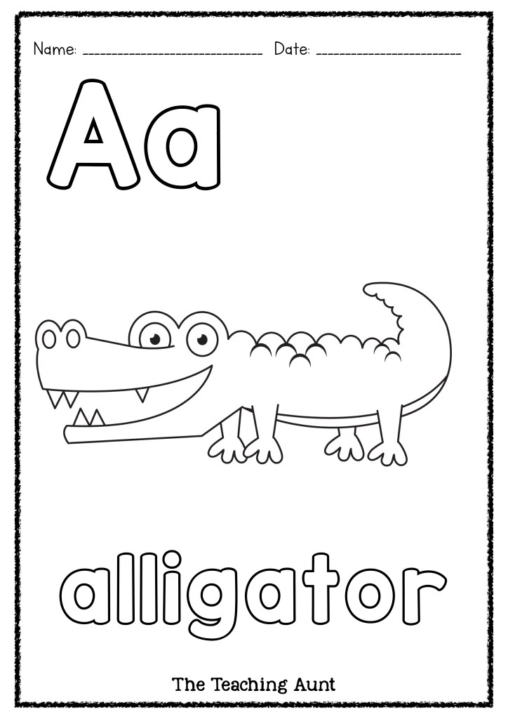 a for alligator coloring page a is for alligator art and craft the teaching aunt page alligator a for coloring