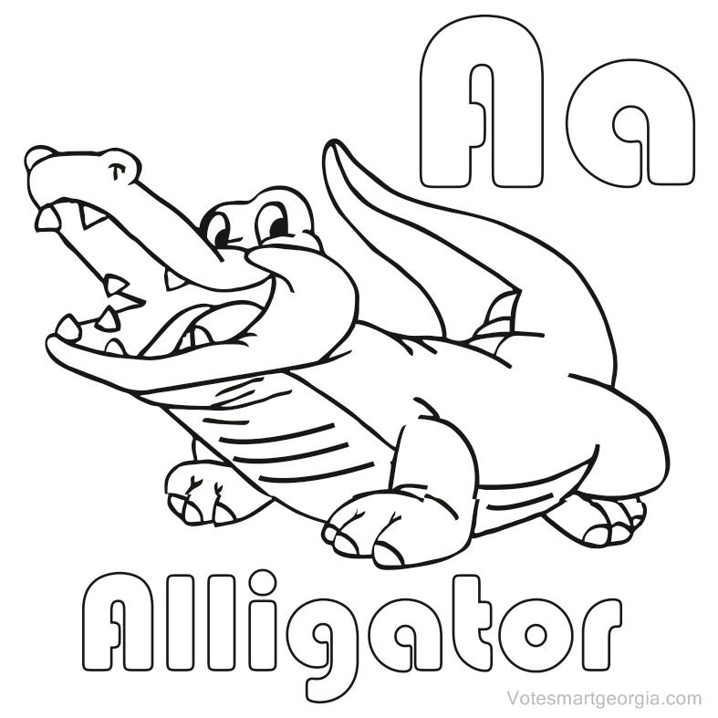 a for alligator coloring page a is for alligator letter a printable coloring page a for alligator