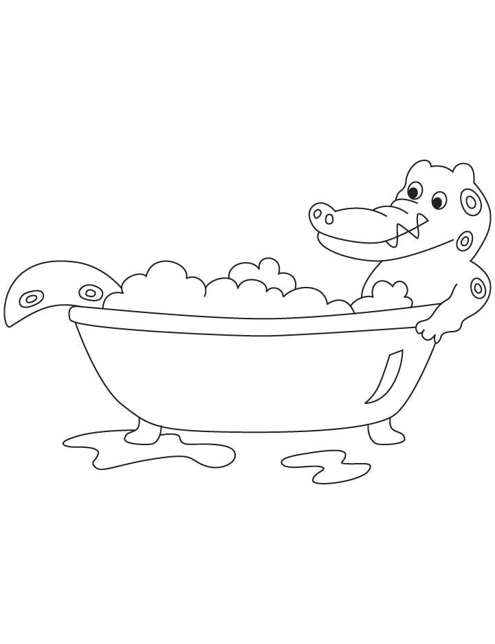 a for alligator coloring page alligator taking bath coloring pages coloring pages coloring for alligator a page