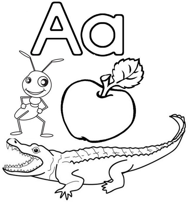 a for alligator coloring page letter a for apple ant and alligator coloring page coloring alligator for page a