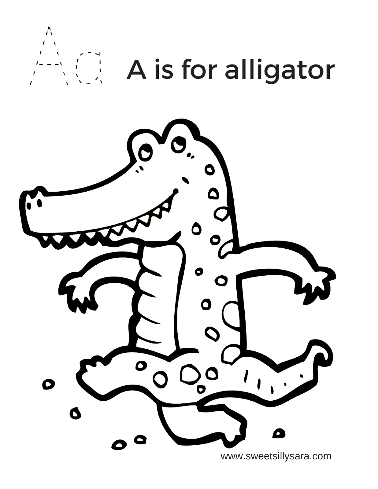 a for alligator coloring page letter a is for alligator coloring page free printable alligator a for page coloring